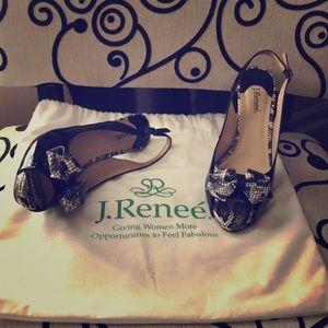 """J. Renee' """"brand new"""" snakeskin heels"""